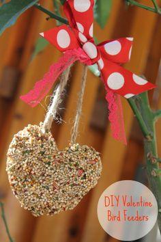 DIY Valentine Bird Feeders