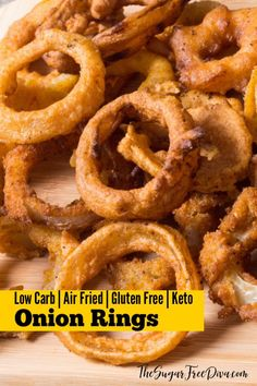 Really easy and Yummy Low Carb Air Fried Onion Rings WOW! The perfect appetizer for tailgates, parties, or just as a snack. This recipe also has options for and ! Keto Bread Machine Recipe, Easy Keto Bread Recipe, Best Keto Bread, Recipe Breadmaker, Bread Recipes, Air Fryer Oven Recipes, Air Frier Recipes, Low Carb Recipes, Cooking Recipes