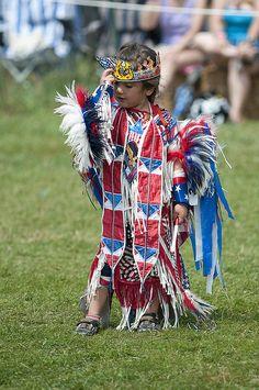 Little Native American dancer, so sweet.         0048441 by kptyson, via Flickr