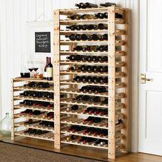 Swedish Wood Shelving, Wine Racks #williamssonoma