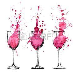 Resultado de imagem para racimo de uvas y botella de vino dibujo