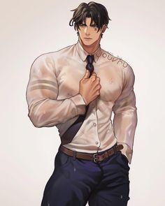 Dark Anime Guys, Hot Anime Boy, Cute Anime Guys, Anime Guys Shirtless, Handsome Anime Guys, 19 Days Anime, Beauté Blonde, Guy Drawing, Anime Poses