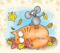 Cat Mouse, Cat Art, Whimsical, Snoopy, Art Prints, Cats, Animals, Fictional Characters, Autumn