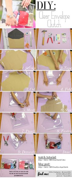 Step-by-step guide | #DIY Clear Clutch