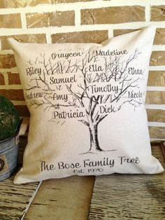 Hey, I found this really awesome Etsy listing at https://www.etsy.com/listing/197562346/family-tree-pillow-personalized-with