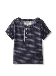 www.myhabit.com  Lightweight polka dot knit henley with mid-way button closure and chambray trim