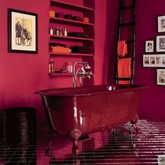All in red, think this might be TOO creepy for Maison du Creep. But I like the bathtub. Probably not big enough for Rasmus.
