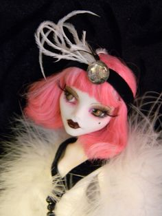 OOAK Monster High Repaint of Cupid Flapper Burlesque Beaded w Couch Glam | eBay
