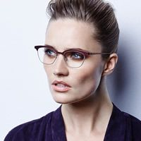 Cat eye glasses will never go out of style.  Lindberg Eyewear