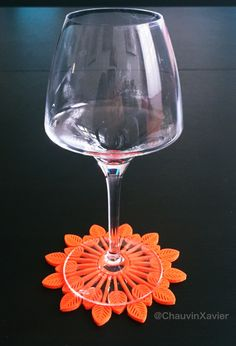 Just for fun😀 🍸 lava by 🌿 Lava, Diy Design, Wine Glass, 3d Printing, Coasters, Shapes, Orange, Decoration, Tableware