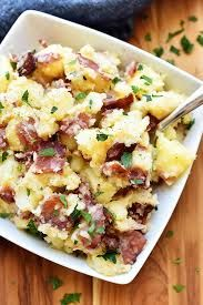 Toss Yukon gold potatoes with Dijon mustard, vinegar, thick-cut bacon, chives and seasoning for this classic German Potato Salad recipe from Food Network. Kitchen Recipes, Cooking Recipes, German Food Recipes, Cake Recipes, German Potatoes, Yukon Gold, Soup And Salad, Clean Eating Snacks, Food Network Recipes