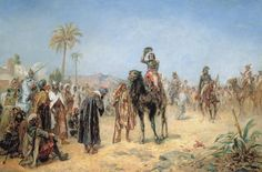 Napoleon Arriving at an Egyptian Oasis, by Robert Alexander Hillingford.