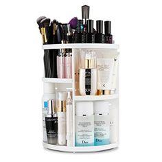Jerrybox 360 Degree Rotation Makeup Organizer Adjustable Multi-Function Cosmetic Storage Box $19.99