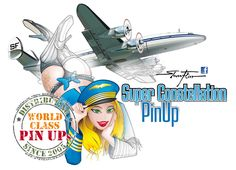 Flightgirl Super Constellation PinUp