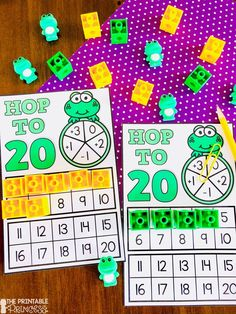 Kindergarten Math: Counting Activities for Numbers 11 - 20 Number Sense Kindergarten, Kindergarten Activities, Preschool Printables, Kindergarten Classroom, Counting Activities, Reading Activities, Math Games, Early Childhood Activities, Math Work