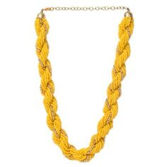 # ModishLook #Party #Trendy #Yellow #Beaded #Necklace #Handcrafted #Designer