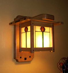 Greene and Greene Style Arts and Crafts Hand Crafted Wood Lighting with Hand Crafted Hand Leaded Art Glass : Craftsmen Hardware Company, LTD