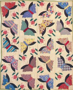 Butterflies, 1935. Fayette City, Alabama.  Wow, it almost looks like an abstract painting.  Good work, quilter whoever you are.