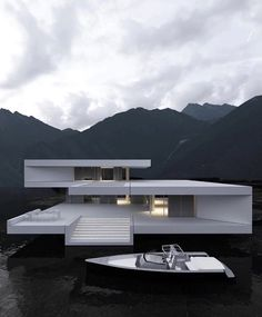 """SourcedByTrill on Twitter: """"VIEWS… """" Modern Architecture House, Futuristic Architecture, Amazing Architecture, Architecture Design, Modern Houses, Container Architecture, Architecture Diagrams, Roman Architecture, Futuristic Design"""