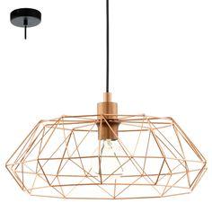 Lámpara de Techo Jaula Geometrica Metalica Cobre