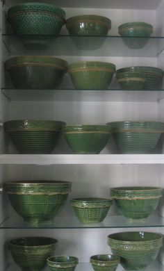 McCoy Bowls (green) - Oh, How I love these!