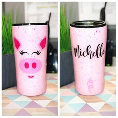Excited to share this item from my shop: Pig Face Glitter Tumbler - Glitter Tumbler - Farm Animal Tumbler - Stainless Steel Tumbler - BBQ Festival Diy Tumblers, Custom Tumblers, Glitter Tumblr, Glitter Cups, Glitter Face, Glitter Makeup, Kids Tumbler, Tumbler Cups, Personalized Teacher Gifts