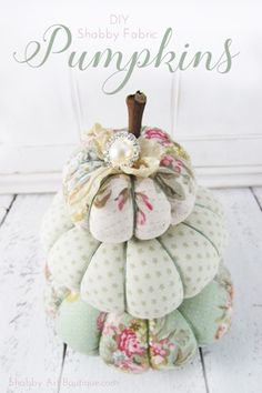 Get the free tutorial to make these sweet fabric pumpkins from Shabby Art Boutique.