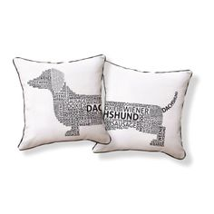 Naked Decor dach-type Dachshund Typography Decorative Pillow