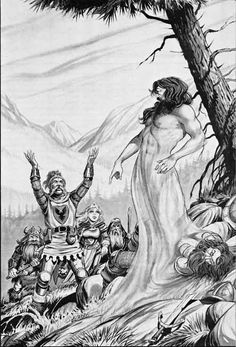 Third Level Clerical Spell: Speak with the Dead. (Larry Elmore from the Mentzer D&D Expert Rulebook, TSR, 1983.)