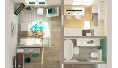 Когда кухня и комната разделены несущей стеной, возможностей для перепланировки однушки очень мало. Дизайнер Ольга Бондарь рассказала, как можно организовать комфортное пространство при таких условиях