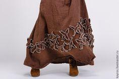 Купить Бохо юбка 5/4 цвет коричневый - коричневый, бохо, бохо-стиль, платье в пол