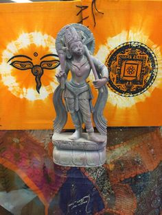 Vishnu Balaram Statue Incarnation of Lord Vishnu Indian Meditation Gift Idea 8 Inch