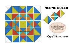 #patchwork #half #square #tutorial #patchworkovévzory #pravítka #šablony
