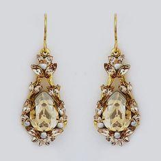 Meg Jewelry, Bridal   Kahlo Champagne Bridal Earrings