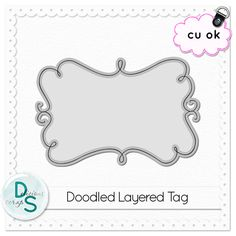Delicious Scraps: Free Commercial Use - Doodled Tag Template