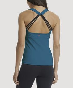 Another great find on #zulily! Moroccan Blue & Black Anya Tank by Zobha #zulilyfinds