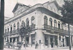 """""""Bar Viaducto"""", que tinha em depósito a famosa manteiga """"Viaducto"""", situado à Rua Anchieta, na capital, em 1914"""