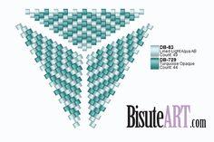 El Blog de BisuteART | Tutoriales y trucos de bisutería | Page 5 Seed Bead Projects, Beading Projects, Beading Tutorials, Beading Patterns, Triangle Pattern, Beaded Rings, Beaded Jewelry, Peyote Stitch Patterns, Seed Bead Tutorials