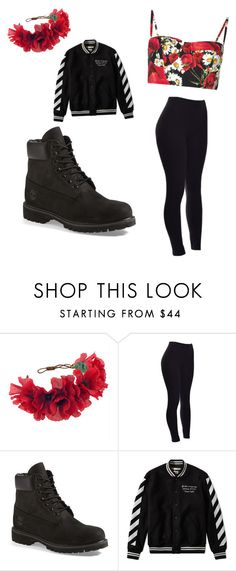 """Untitled #52"" by maddixneal on Polyvore featuring Rock 'N Rose, Timberland, Off-White and Dolce&Gabbana"