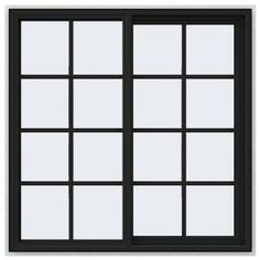 JELD-WEN 47.5 in. x 47.5 in. V-4500 Series Right-Hand Sliding Vinyl Window with Grids - Bronze THDJW140400192 at The Home Depot - Mobile