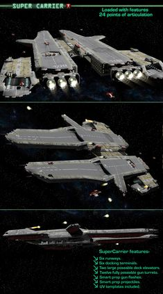 SuperCarrier Models shawnaloroc - Love Tutorial and Ideas Star Wars Spaceships, Sci Fi Spaceships, Spaceship Art, Spaceship Design, Stargate Ships, Starship Concept, Space Engineers, Capital Ship, Sci Fi Ships