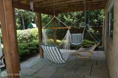 I want swings under our deck