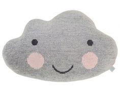 Knitted Cloud Pillow Light Grey - Jelanie