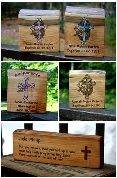 Personalized baptism gift. Handmade and made in America. Get your hands on this special baptism gift! Could also be a confirmation gift or christening gift. $29.70. Order it here: http://aftcra.com/item/773. #handmade #madeinAmerica #americanmade #Baptismgift #ChristeningGift #ConfirmationGift #RusticGift #PersonalGift