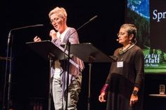 #poesiefestival #versschmuggel - Orsolya Kalász und Mamta Sagar (c) gezett