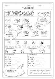 Numbers in words 1-20 | Printable Worksheets | Pinterest | Numbers ...