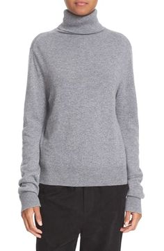 Free shipping and returns on Vince Cashmere Turtleneck Sweater at Nordstrom.com. Pre-order this style today! Add to Shopping Bag to view approximate ship date. You'll be charged only when your item ships.Topped with a cozy turtleneck, a relaxed pullover with timeless appeal is elevated in decadently soft cashmere knit.