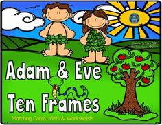 Adam & Eve Ten Frames from The-Schoolhouse on TeachersNotebook.com -  (12 pages)  - Fun ten frames activities for 1-20 with Adam and Eve for the home or classroom.