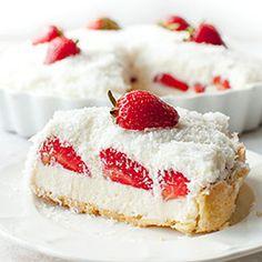 Tarta Raffaello z truskawkami Sweet Pie, Sweet Tarts, Tart Recipes, Sweet Recipes, Köstliche Desserts, Dessert Recipes, Raffaello Dessert, Snickers Torte, Cheesecake
