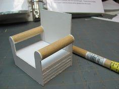 Dollhouse miniatura de los muebles - Tutoriales | 1 minis pulgadas: SILLA, de revestimiento Tutorial - Cómo hacer y tapizar una silla escala de 1 pulgada.